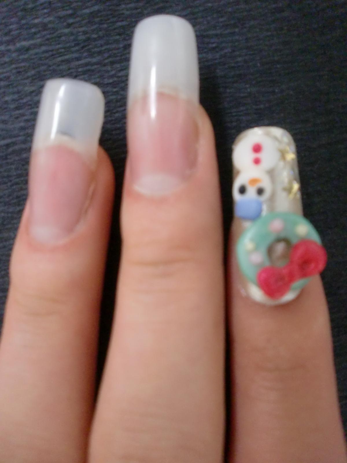 ネイル1級検定 2014秋季 先生もきれいな指の方を紹介してくれてよかったね